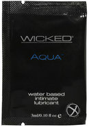 Wicked Aqua Water Based Lubricant Unscented Foil Packs 144...