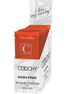 Body Boudoir Coochy Shave Creme Tropical Tease Foil Packs...