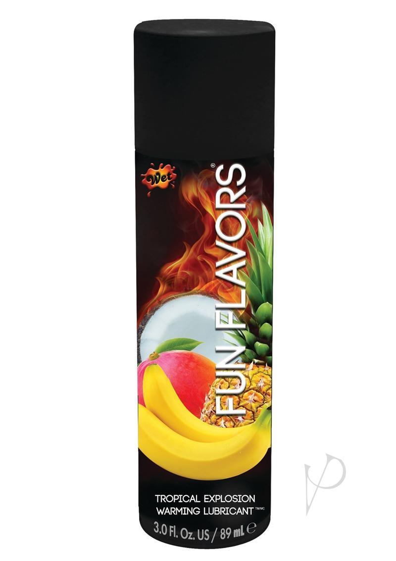 Wet Fun Flavors 4 In 1 Warming Water Based Lubricant Tropical Fruit Explosion 4.1 Ounce