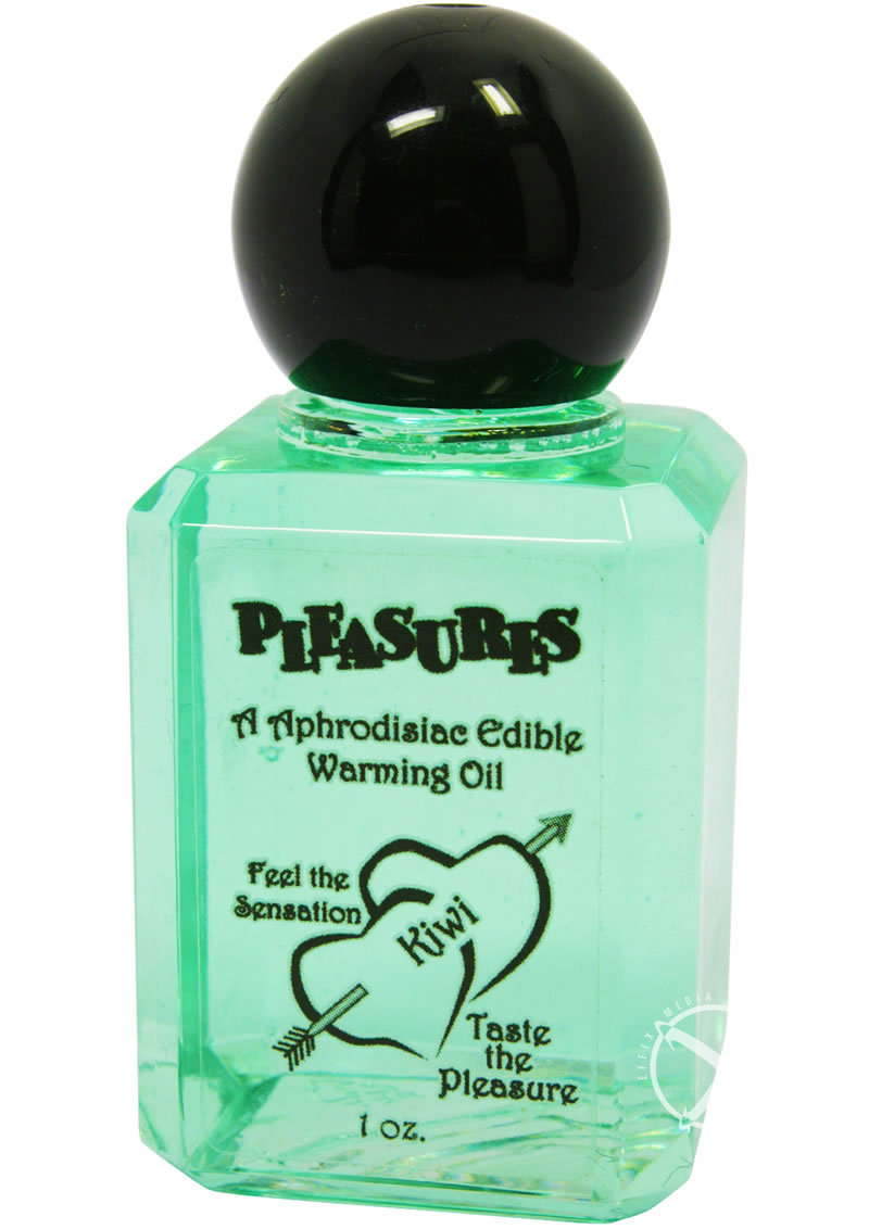 Pleasures Aphrodisiac Edible Warming Oil Kiwi 1oz